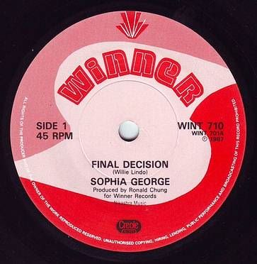 SOPHIA GEORGE - FINAL DECISION - WINNER