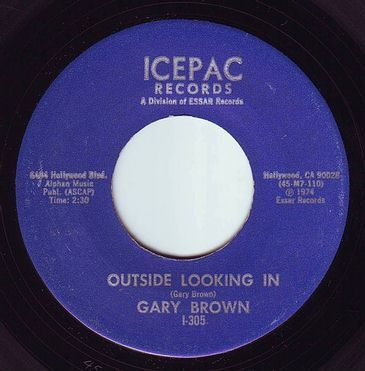 GARY BROWN - OUTSIDE LOOKING IN - ICEPAC