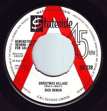DICK ROMAN - CHRISTMAS VILLAGE - STATESIDE DEMO