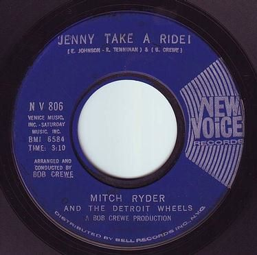MITCH RYDER - JENNY TAKE A RIDE - NEW VOICE