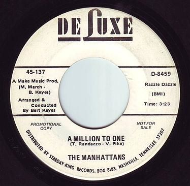 MANHATTANS - A MILLION TO ONE - DELUXE DEMO