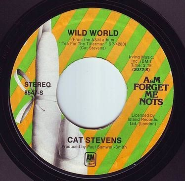 CAT STEVENS - WILD WORLD - A&M F.M.N.