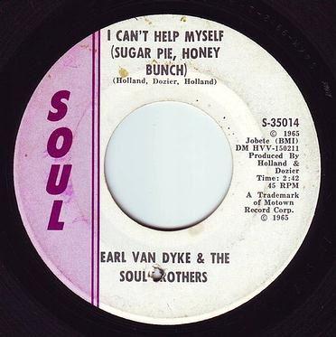 EARL VAN DYKE - I CANT HELP MYSELF - SOUL VG+