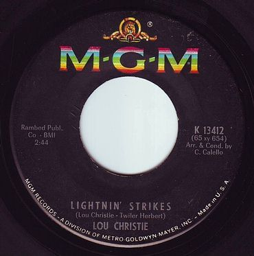 LOU CHRISTIE - LIGHTNIN' STRIKES - MGM