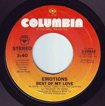 EMOTIONS - BEST OF MY LOVE - COLUMBIA
