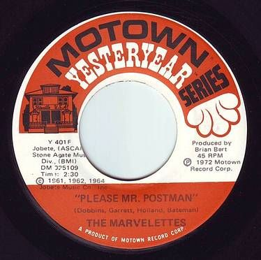 MARVELETTES - PLEASE MR. POSTMAN - MOTOWN YY