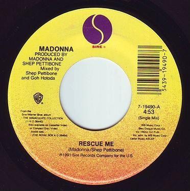 MADONNA - RESCUE ME - SIRE