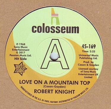 ROBERT KNIGHT - LOVE ON A MOUNTAIN TOP - COLOSSEUM