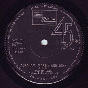 MARVIN GAYE - ABRAHAM, MARTIN AND JOHN - TMG 734