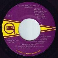 TEENA MARIE - I NEED YOUR LOVIN' - GORDY