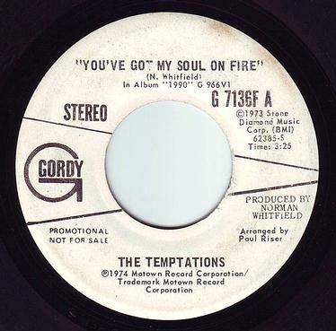 TEMPTATIONS - YOU'VE GOT MY SOUL ON FIRE - GORDY DEMO