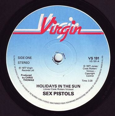 SEX PISTOLS - HOLIDAYS IN THE SUN - VIRGIN