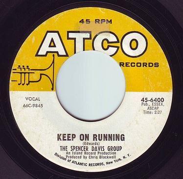 SPENCER DAVIS - KEEP ON RUNNING - ATCO
