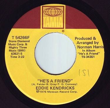 EDDIE KENDRICKS - HE'S A FRIEND - TAMLA