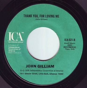 JOHN GILLIAM - THANK YOU FOR LOVING ME - ICA