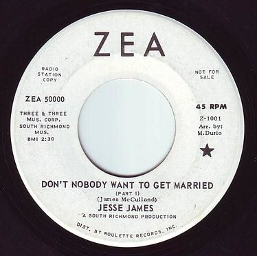 JESSE JAMES - DON'T NOBODY WANT TO GET MARRIED - ZEA DEMO