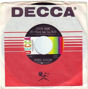 MARGE DODSON - LOVER MAN - DECCA