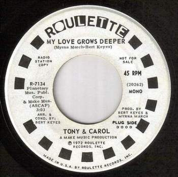 TONY & CAROL - MY LOVE GROWS DEEPER - ROULETTE dj