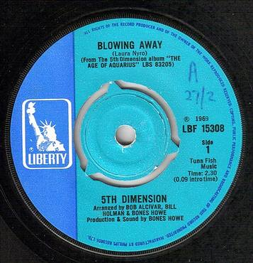 FIFTH DIMENSION - BLOWING AWAY - LIBERTY