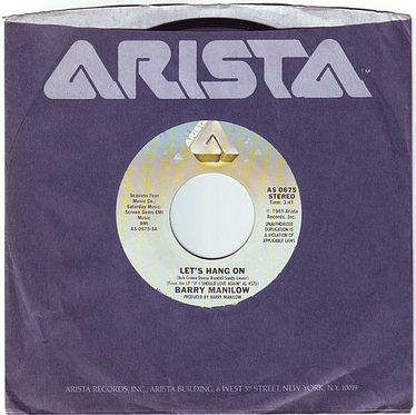 BARRY MANILOW - LET'S HANG ON - ARISTA