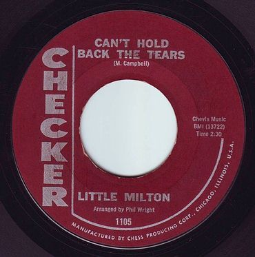 LITTLE MILTON - CAN'T HOLD BACK THE TEARS - CHECKER