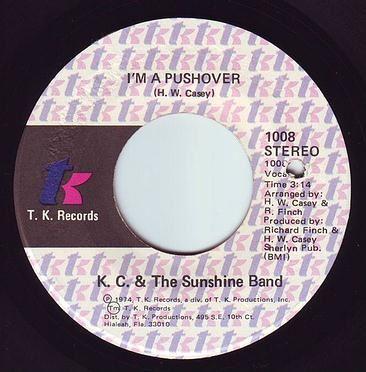 K.C. & THE SUNSHINE BAND - I'M A PUSHOVER - TK