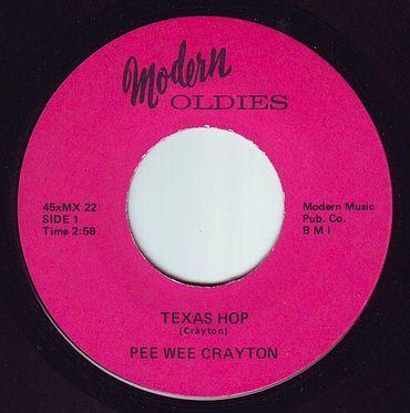 PEE WEE CRAYTON - TEXAS HOP - MODERN OLDIES