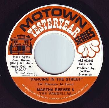 MARTHA REEVES & THE VANDELLAS - DANCING IN THE STREET - MOTOWN YY