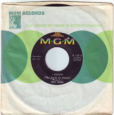 BETTI WEBB - I KNOW - MGM