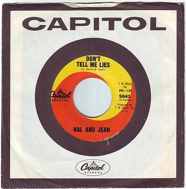 HAL & JEAN - DON'T TELL ME LIES - CAPITOL
