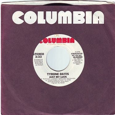 TYRONE DAVIS - JUST MY LUCK - COLUMBIA DEMO