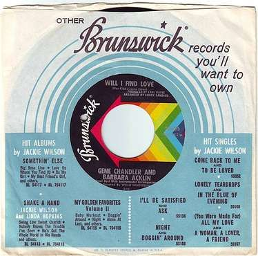 GENE CHANDLER & BARBARA ACKLIN - WILL I FIND LOVE - BRUNSWICK