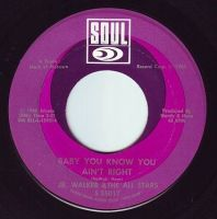 JR. WALKER & THE ALL STARS - BABY YOU KNOW YOU AIN'T RIGHT - SOUL