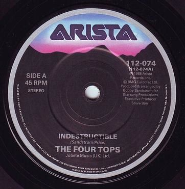 FOUR TOPS - INDESTRUCTIBLE - ARISTA