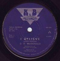 D.D. McDONALD - I BELIEVE - K&B