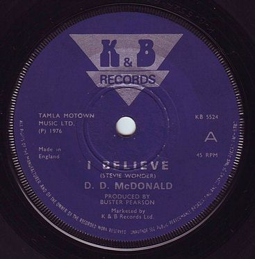 D.D. McDONALD - I BELIEVE - K&B