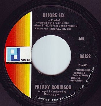 FREDDY ROBINSON - BEFORE SIX - PACIFIC JAZZ