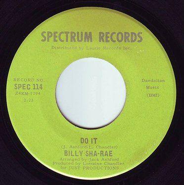 BILLY SHA RAE - DO IT - SPECTRUM
