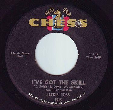 JACKIE ROSS - I'VE GOT THE SKILL - CHESS