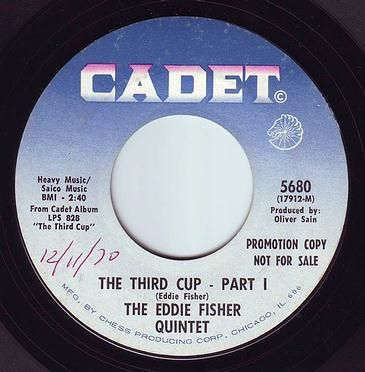 EDDIE FISHER QUINTET - THE THIRD CUP - CADET DEMO