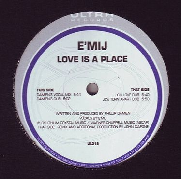E'MIJ - LOVE IS A PLACE - ULTRA