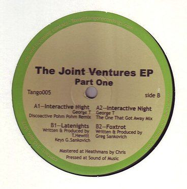 THE JOINT VENTURES EP - PART ONE - TANGO RECORDINGS