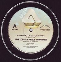 JUNE LODGE & PRINCE MOHAMMED - SOMEONE LOVES YOU HONEY - ARISTA