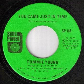 TOMMIE YOUNG - YOU CAME JUST IN TIME - SOUL POWER