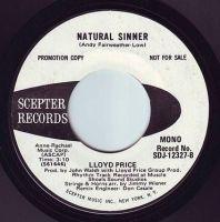 LLOYD PRICE - NATURAL SINNER - SCEPTER DEMO