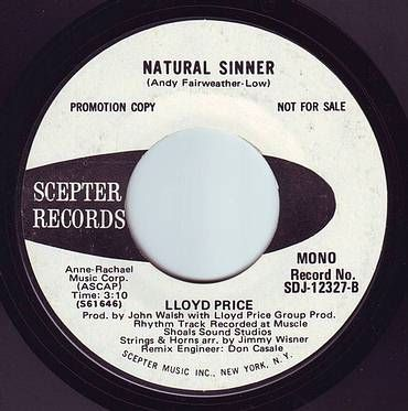LLOYD PRICE - NATURAL SINNER - SCEPTER DEMO