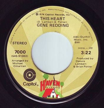 GENE REDDING - THIS HEART - HAVEN
