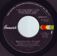 ROSEMARY McCOY - I DO THE BEST I CAN WITH WHAT I GOT - BRUNSWICK