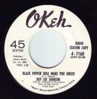 ROY LEE JOHNSON - BLACK PEPPER WILL MAKE YOU SNEEZE - OKEH DEMO