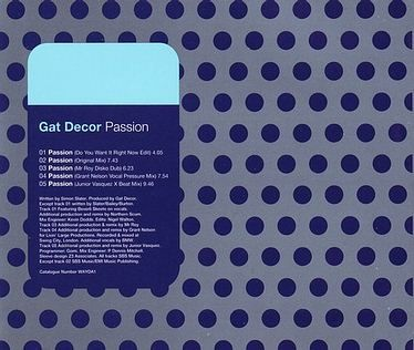 GAT DECOR - PASSION - WAY OF LIFE CD